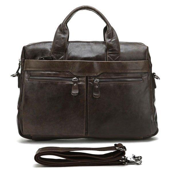 Free Shipping High Quality Fashion Vintage Genuine Leather Multifunction Men's Briefcase Laptop Handbag Messenger bag #7122C(China (Mainland))