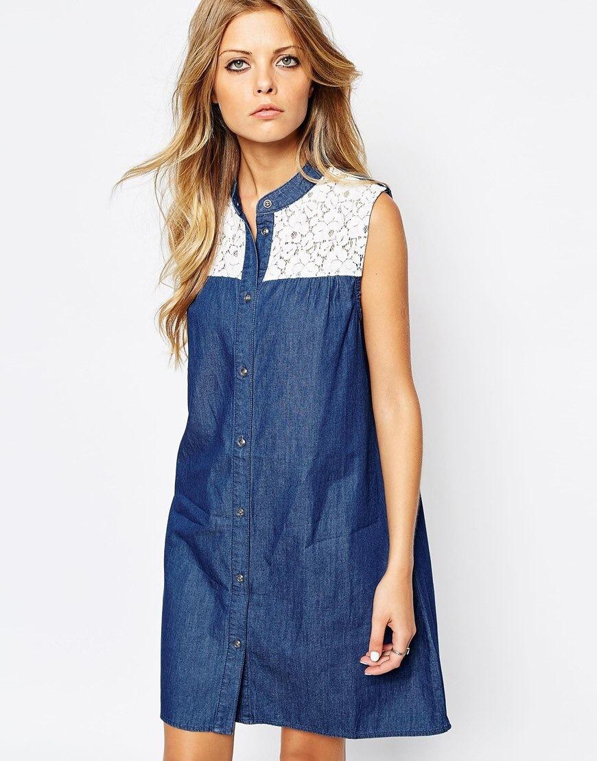 Джинсовое платье-рубашку сшить 98