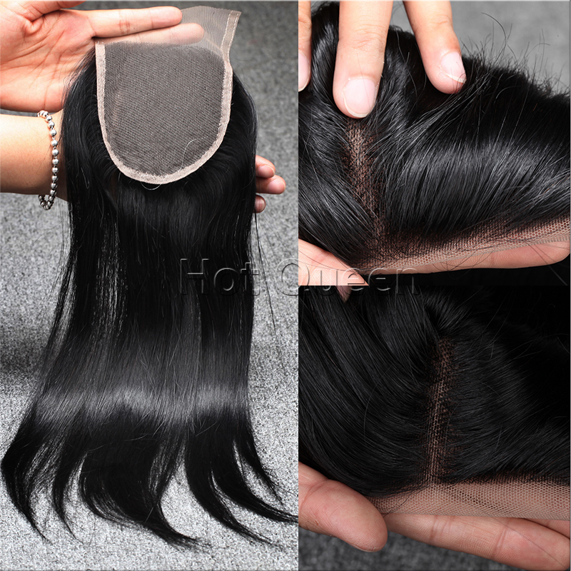 Hot Fashion brazilian virgin hair Straight hair Free Middle 3 Part lace closure miracurl hair guangzhou hair products<br><br>Aliexpress