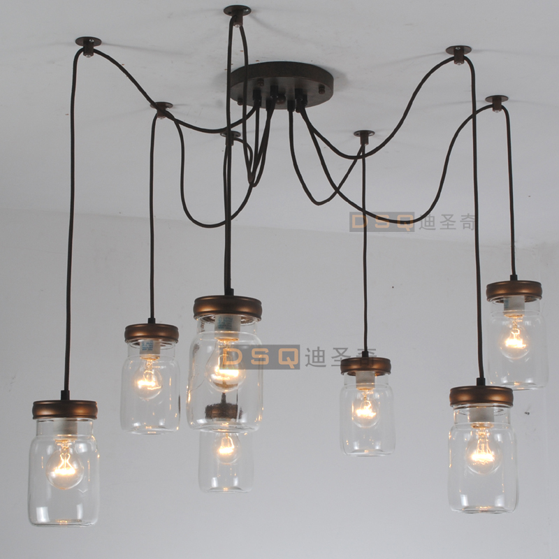 Buy 7 head american bottle glass pendant for American classic lighting