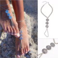 Retro Boho Turkish Coin Tassel Anti Silver Antalya Anklet Gypsy Beachy Coachella Tassels vintage Women Fashion