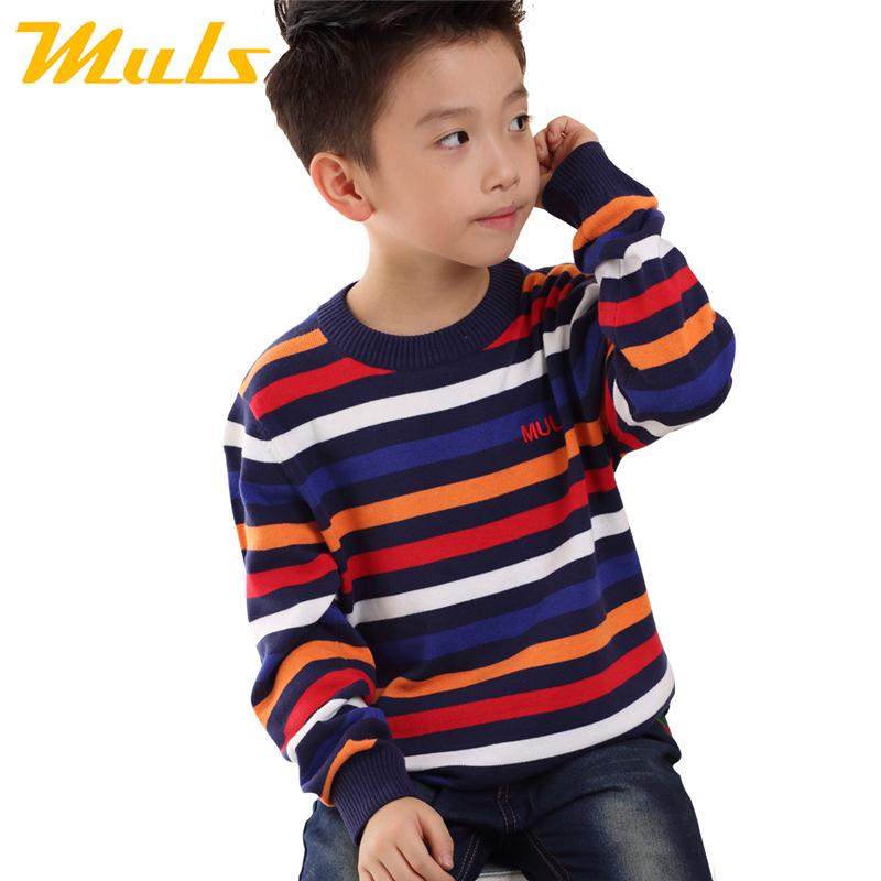 Korean style children clothing waistcoat sweater for boys oupa para menino de 12 anos virgin wool cotton striped 2-9T kid okaidi(China (Mainland))