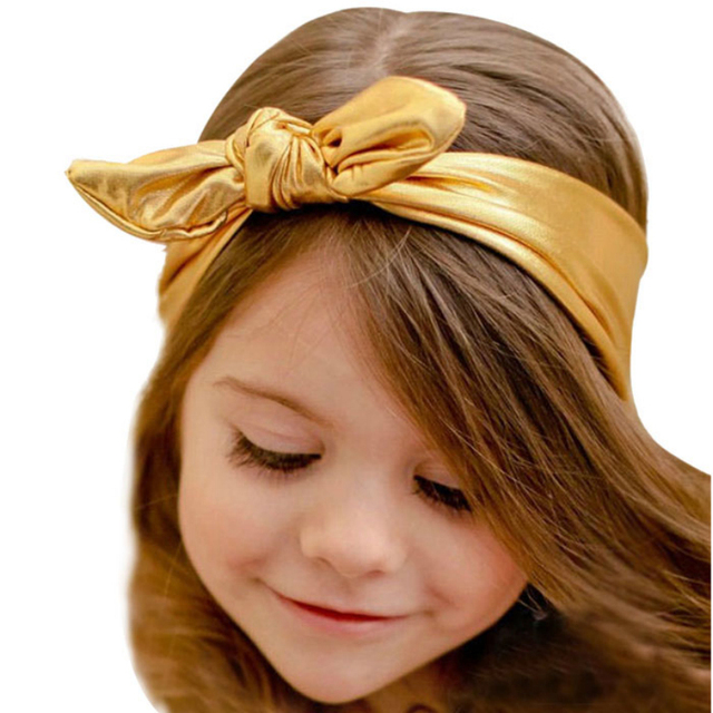 Лучший Курс Новый Мода 1 ШТ. Прекрасный Уха Кролика Дизайн Эластичность Мыть Золото ...