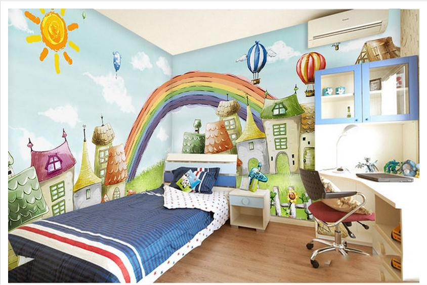 Custom Mural 3d Non Woven Wallpaper Children Room Bedroom
