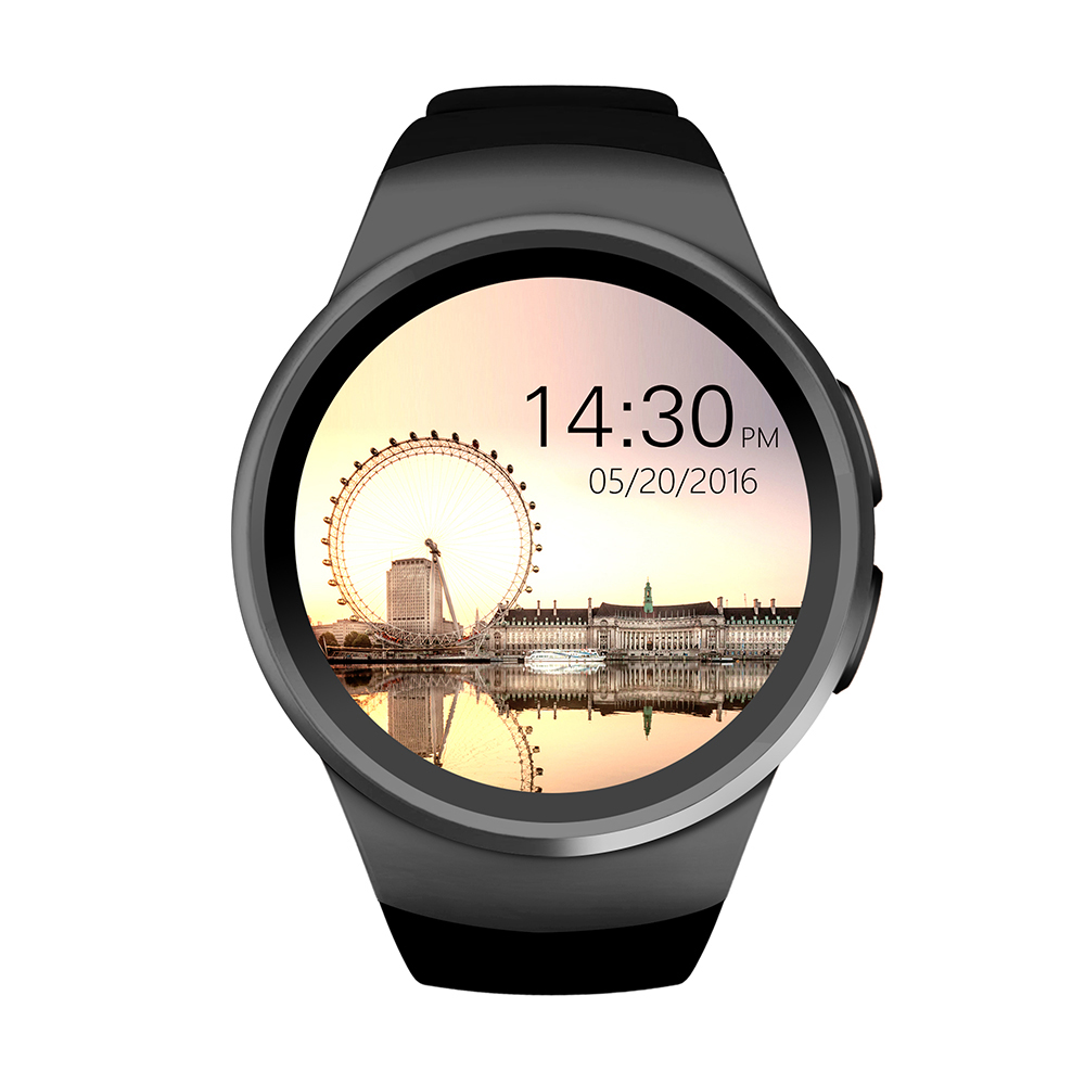 Фотография Newest Smart Watch Phone MTK2502C 1.3 inch round IPS touch screen Bluetooth 4.0 Anti-lost Remote control apk for IOS android