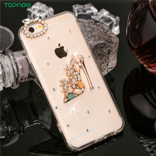 """Diamond design Clear soft TPU+PC Phone cases for iPhone 6 6S 4.7"""" bottle shoes crown Crystal Rhinestone Dust plug back cover(China (Mainland))"""