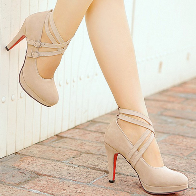 Гаджет  2015 New Arrival Women Pumps Gladiator High Heels Platform Pumps Sexy Ankle Straps Red Bottom Shoes  None Обувь