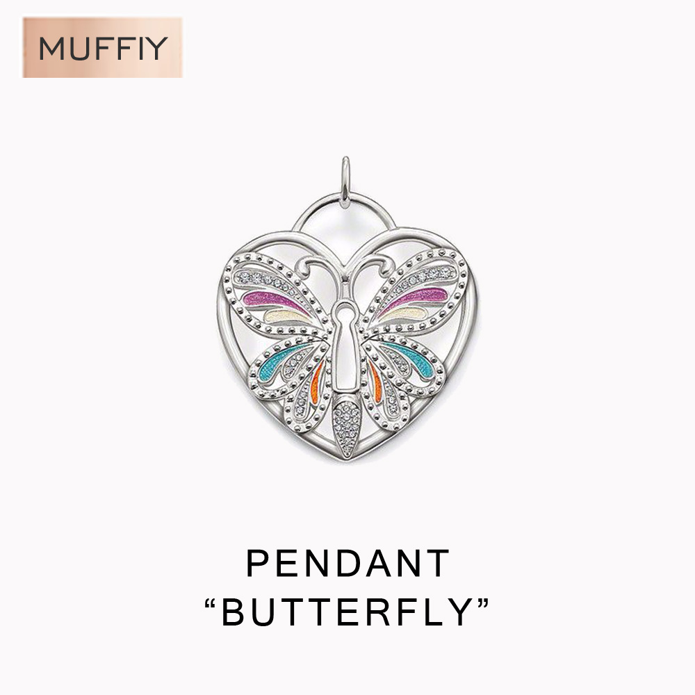 Large Heart Sharped Butterfly Pendant,Thomas Style Glam And Soul Good Jewelry For Women,Ts Gift In Sterling Silver Fit Bracelet(China (Mainland))