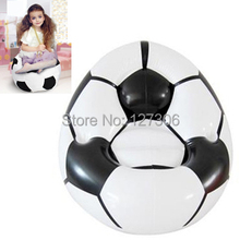 Hot and New Mini Inflatable Football Sofa, Size: 90cm (White) Free Shipping(China (Mainland))