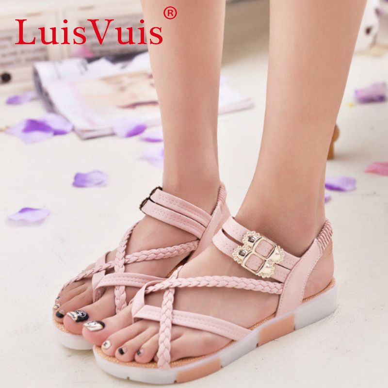 woman ankle strap leisure shoes women flat sandals brand quality sweet fashion zapatos mujer women sandals size 35-39 WD0082<br><br>Aliexpress