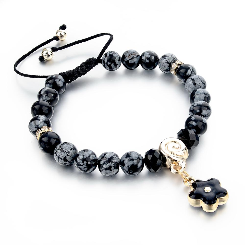 2015 popular mens jewelry black bead bracelet for