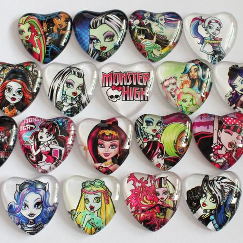 25mm Mixed Style Cartoon People Heart Glass Cabochon Dome Jewelry Finding Cameo Pendant Settings 20pcs/lot (K02845)(China (Mainland))