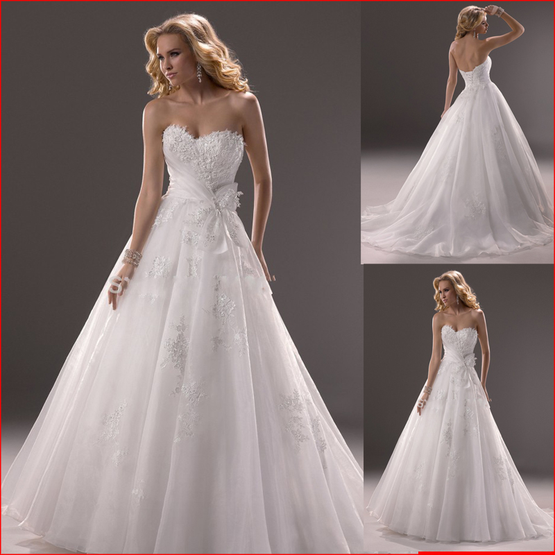 Hot sale organza corset wedding dresses lace applique for Corset wedding dresses plus size