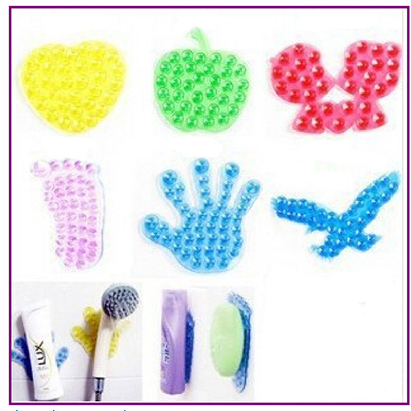 3PC Sucker For Toothpaste Suction Magic Sucker For Bathroom Stickers Mobile Phone Stand Holder Toothbrush Double Side Vacuum(China (Mainland))