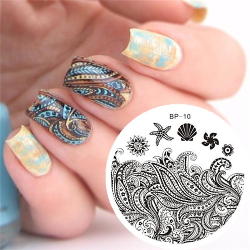 BORN PRETTY Starfish & Shell Theme Nail Art Stamp Template Image Plate BP-10(China (Mainland))
