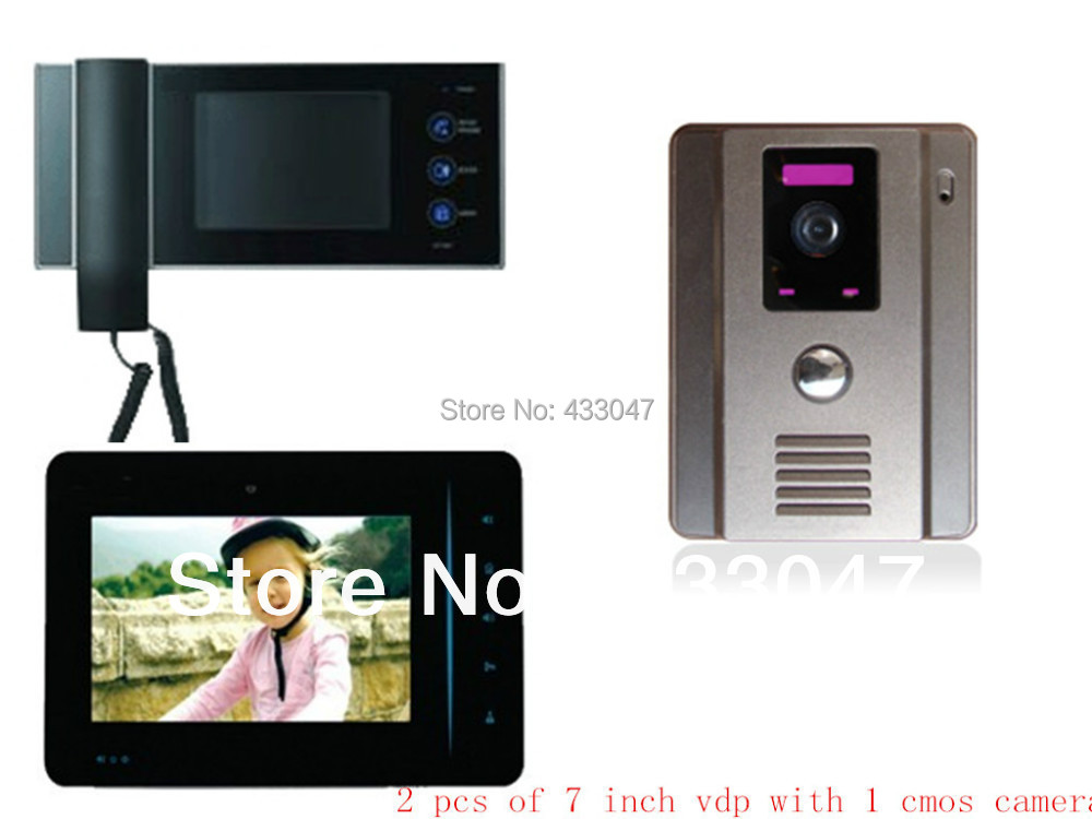 7 39 39 video door phones intercom door monitor night vision for Door video camera