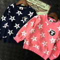 2016 family clothing mother father baby Monkey star full printed cotton long sleeved girls sweatshirt kids