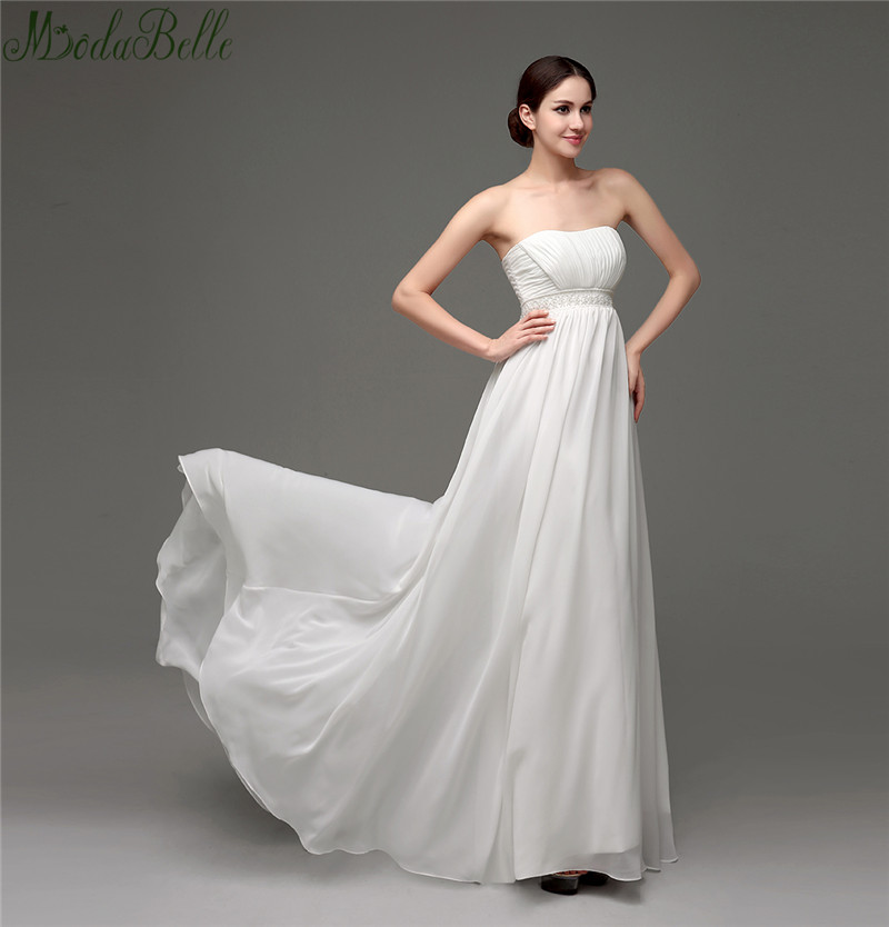 Strapless 2016 beach wedding dresses zip back with buttons for Wedding dress for pregnant woman