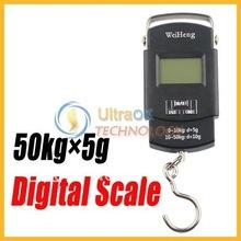 Niza 50 kg x 5 g Portable LCD Digital de bolsillo entrega escala de peso negro nuevo envío gratis superior #8
