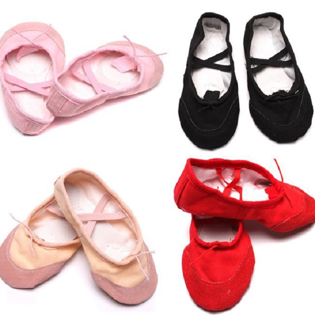 Free Shipping Child Girl Women Soft Sole Dance Ballet Shoes Comfortable Fitness Breathable Canvas Practice Gym Slippers PA654189(China (Mainland))