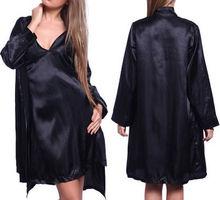 NWT Stylish Sexy Satin Slip lace back Nighty Babydoll Sleepwear Night Robe Gown