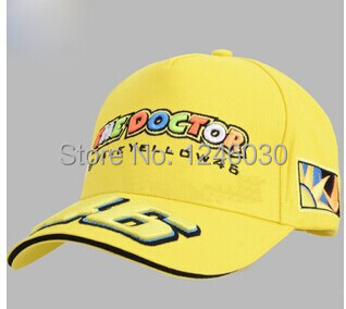 Yellow black the doctor embroideried VR Rossi 46 moto gp motorcycle baseball cap outdoor sport hiphop caps(China (Mainland))