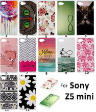 100pcs/lot Z5 Compact Cute Printer Pattern Ultra Thin TPU case, Soft Gel TPU Cell Phone case For Sony Xperia Z5 Compact Z5 mini(China (Mainland))