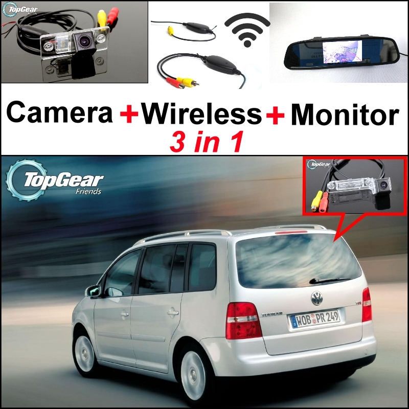 3 in1 Special Wifi Camera + Wireless Receiver + Mirror Monitor Easy DIY Parking System For Volkswagen VW Touran Golf Touran<br><br>Aliexpress