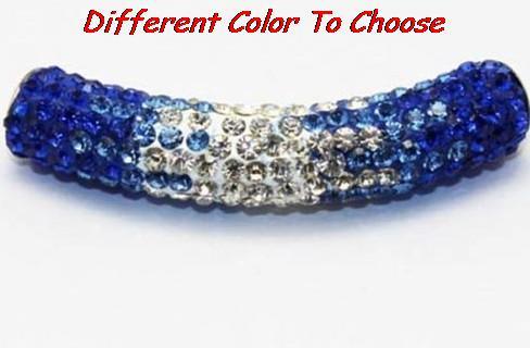 10 pcs/lot 45cm best hot new fasion bracelet necklace gradient tube Shamballa beads long bending Crystal free shipping new(China (Mainland))