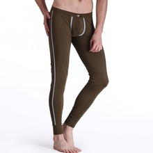 Factory Price! Men Soft Warm Long Johns Thermal Pants Underwear Low Rise Underpants M L XL(China (Mainland))