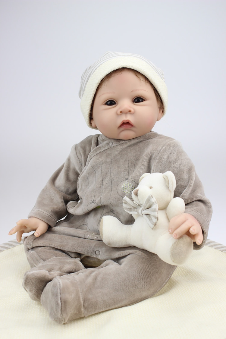 22 Inches Silicone Reborn Babies Doll Newborn Realistic Baby Alive Toy Finished Gift(China (Mainland))
