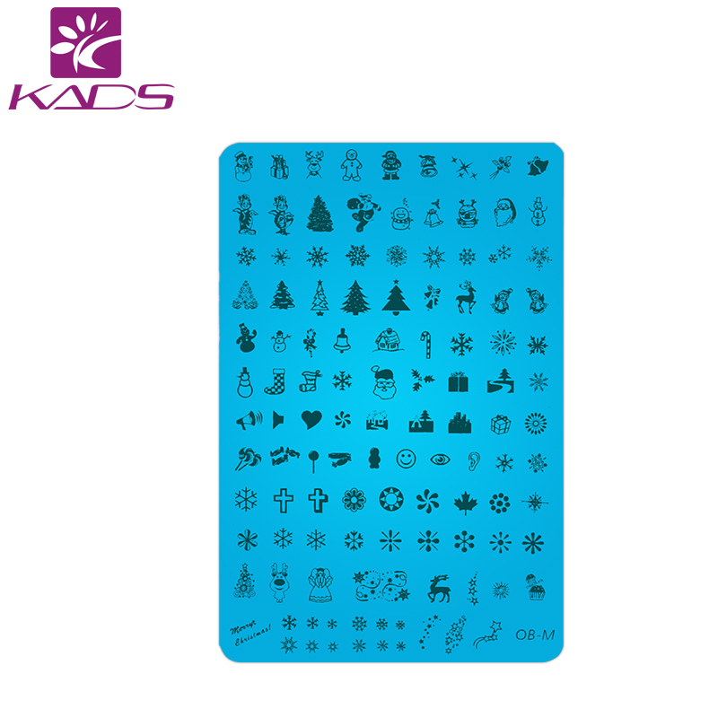 KADS 1/PCS Christmas Claus Design Big SIZE Nail Art Stamping Plates Stainless Steel Manicure Template Nail Stamp Tools polish(China (Mainland))