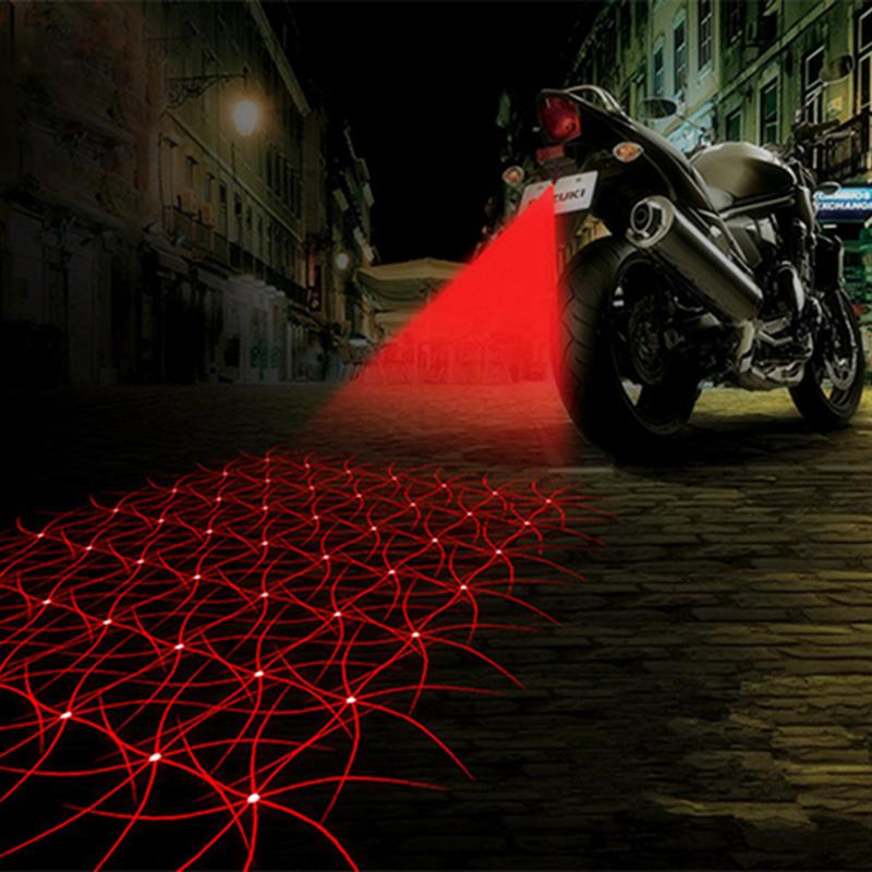 Motorcycle Auto Anti-collision Laser Fog Lamp Car Anti-fog Parking Stop Brake Car LED Warning Light HA10492