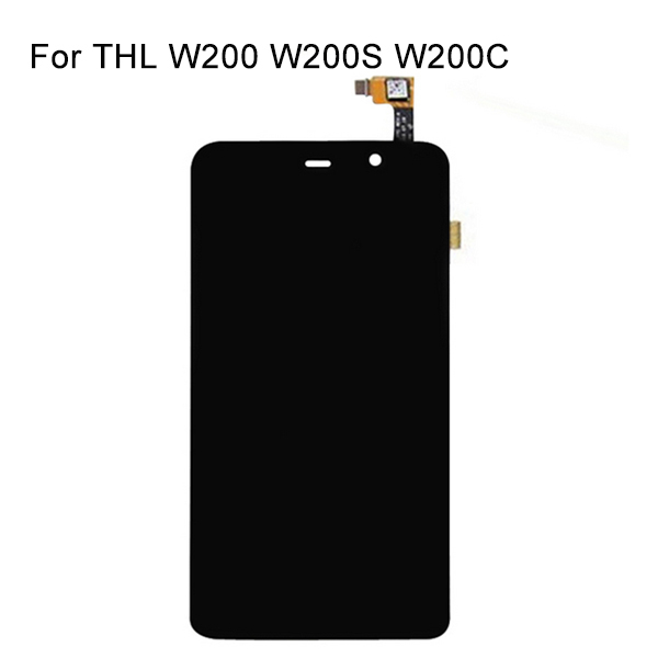 Original THL W200 Display Lcd Digitizer Touch Screen Window W200S W200C 1280x720 5.0 inch Replacement