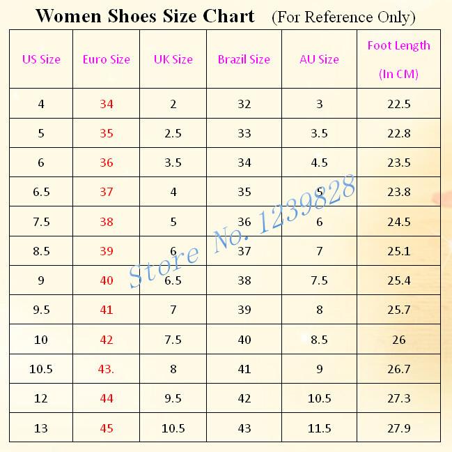 women sheos size chart_
