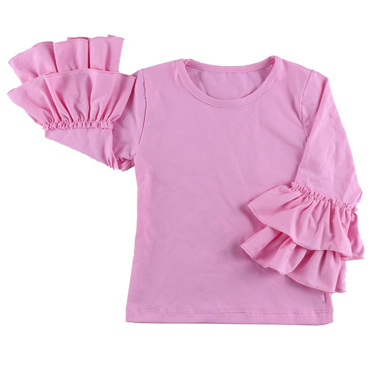 2016 New Real Minecraft Minion Wennikids Solid Cotton Sleeve Ruffle Top,girl T-shirt Children T Shirts Kid Tops Free Shipping  HTB1zSuJHVXXXXazXpXXq6xXFXXX1