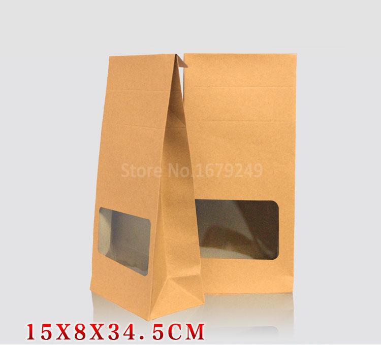 15x8x35cmThe new window paper box Senior food baking box Cookies Walnut dry fruit upright stand bag box 100piece\lot whole sale(China (Mainland))