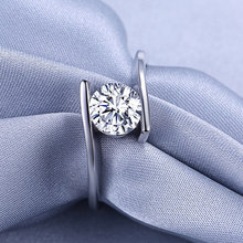 Lose money promotion hot sell romantic 925 sterling silver shiny zircon female wedding rings engagement finger