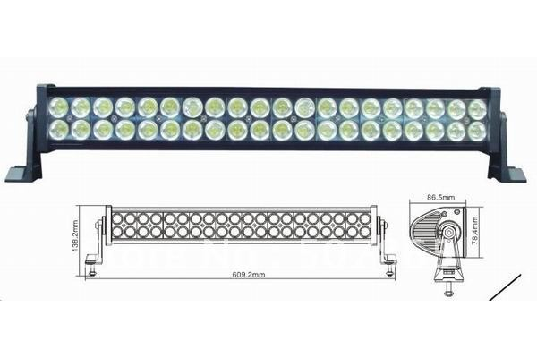 "Led bar 22"" 120W 8500LM P67 off road LED light bars ATV OFF ROAD 4WD UTV SUV boat truck(China (Mainland))"