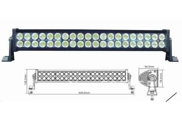 "Led bar 22"" 120W 8500LM P67 off road LED light bars ATV OFF ROAD 4WD UTV SUV boat truck(China (Mainland))"
