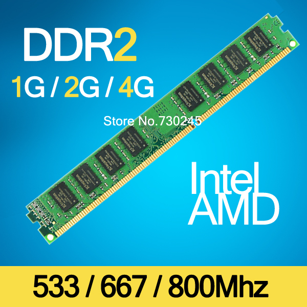 Brand New Sealed DDR2 1GB / 2GB / 4GB 800MHz / 667MHz / 533MHz DDR 2 DIMM-240-Pins Desktop Memory Ram memoria ,Lifetime warranty(China (Mainland))