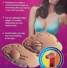 magic bra pad pump it up black beige Inflatable Bra Insert Shaper Pads Push Up Bikini Breast Enhancer Blk free shipping