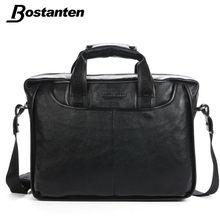 Bostanten Hot Sell Business Brand Men Handbags Genuine Leather Briefcases Zipper High Quality Men's Messenger Shoulder Mens Bag(China (Mainland))
