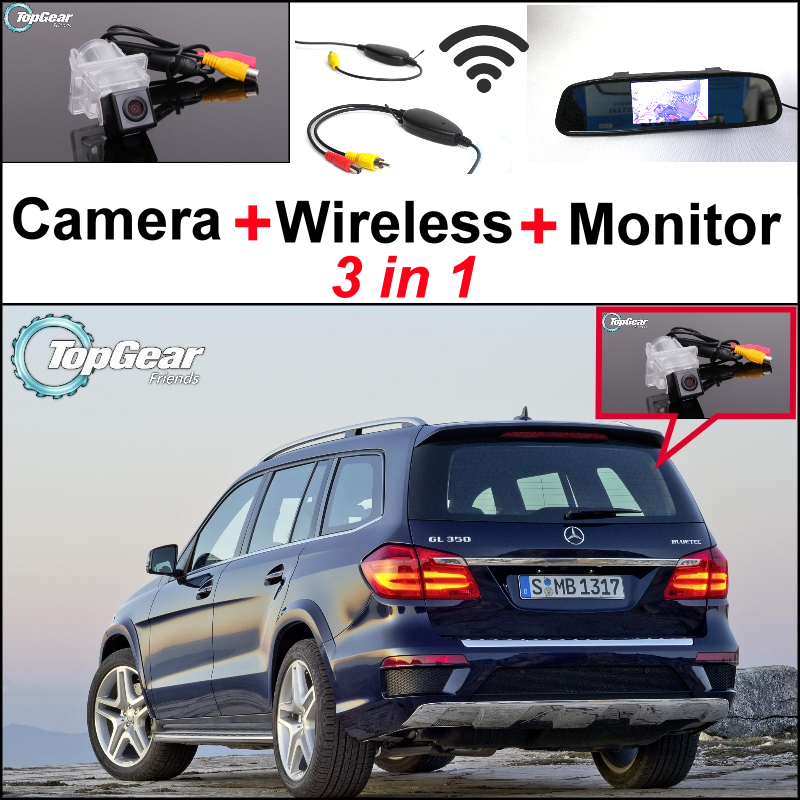 For Mercedes Benz GL Class MB X166 3in1 Special WiFi Back Up Camera + Wireless Receiver + Mirror Screen Parking Rear View System(China (Mainland))