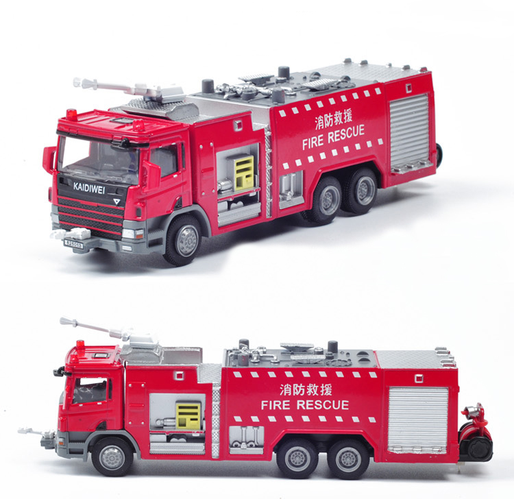 Hot Sale1:50 Alloy water tanker truck model fire rescue vehicle simulation models toys(China (Mainland))