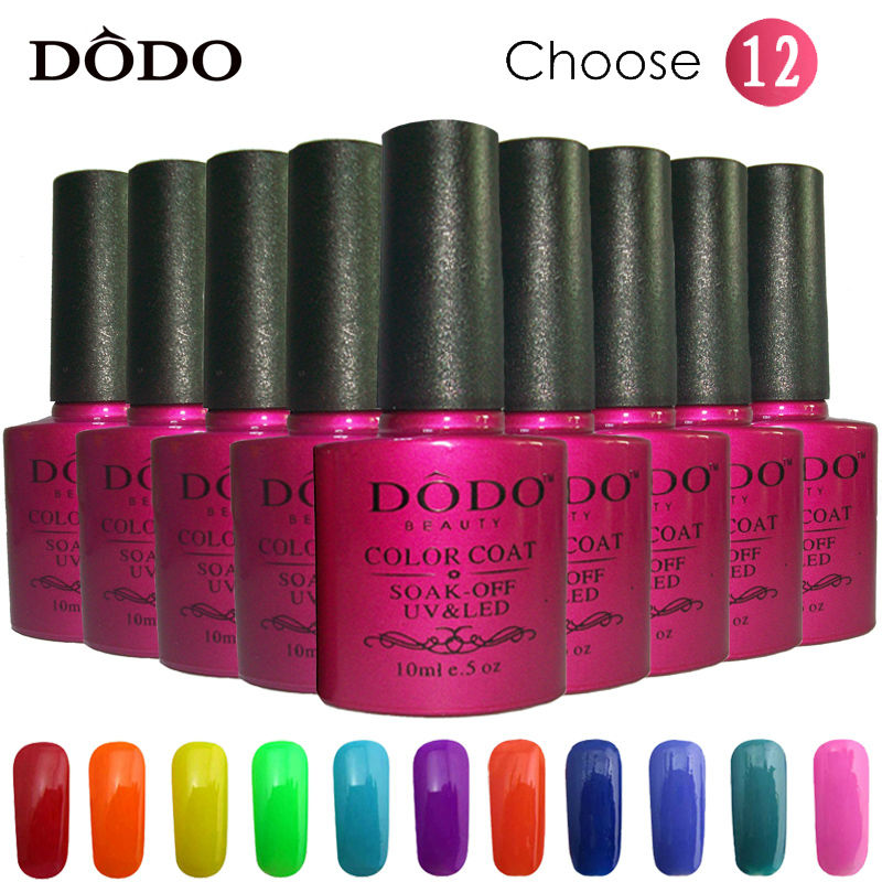 DODO UV Gel Nail Polish Soak Varnish Lacquer Glue Choose 10 Colors One Base 1 Top Coat Primer Manicure products - VIP Fashion Salon store