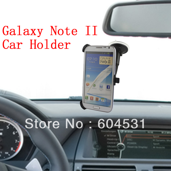 For Samsung Galaxy Note 2 N7100 Car Holder/car mount holder 100 pcs/lot Black color Free shipping