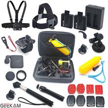 SJCAM Accessories Set Chest Belt Head Mount Strap Monopod Handhold Mount SJCAM Battery And Charger For sj4000 sj5000 sj5000 Plus