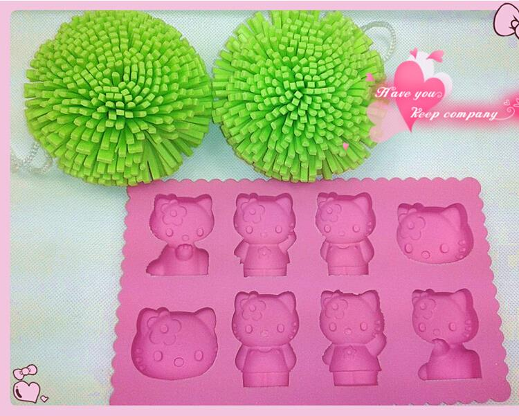 New Factory Wholesale 8 Holes Cute Kitty Cat Ice Tray Ice Cake Silicone Mould Mold Tray Tool(China (Mainland))