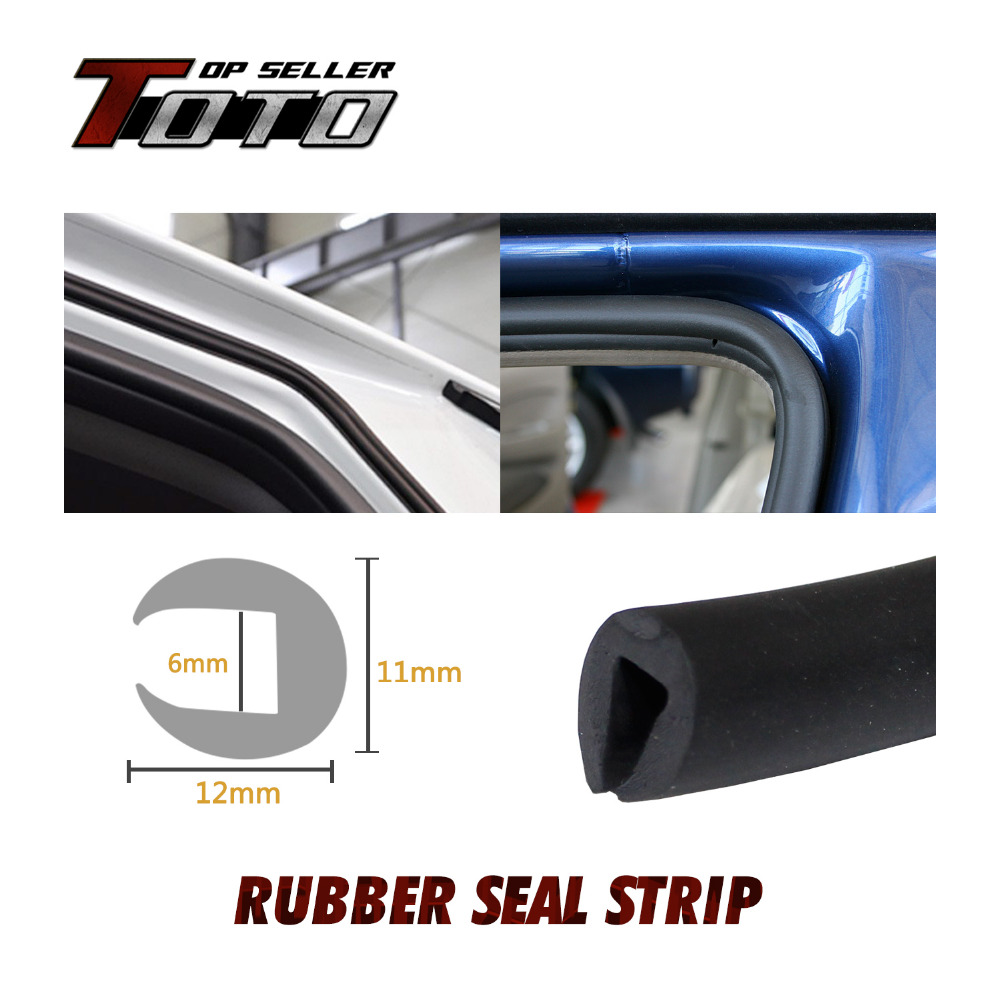 "Window Door 590"" 1500cm Seal Strip Black Edge Trim Rubber 12x11mm U Channel Car Truck Trailer Camper Sound Pillar #61(China (Mainland))"